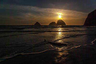 Photograph - Oceanside Sunset 1 by Ken Dietz