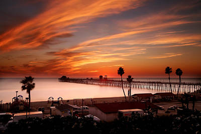 Oceanside Sunset 10 Art Print by Larry Marshall
