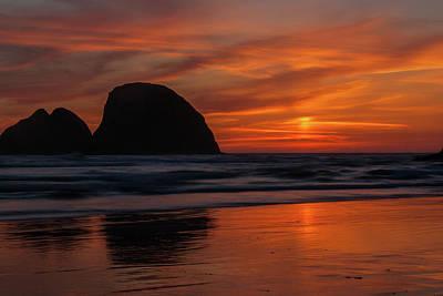 Photograph - Oceanside Sunset 3 by Ken Dietz
