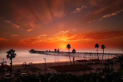 Oceanside Sunset 9 Art Print by Larry Marshall
