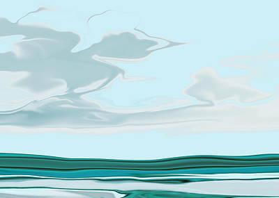 Oceanus Iv Art Print by Pauline Thomas