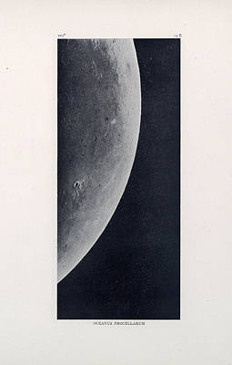 Drawing - Oceanus Procellarum 02 - Ocean Of Storms - Surface Of The Moon - Lunar Surface - Celestial Chart by Studio Grafiikka