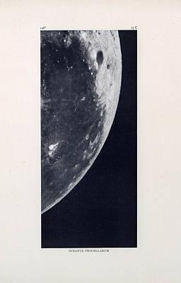 Drawing - Oceanus Procellarum - Ocean Of Storms - Surface Of The Moon - Lunar Surface - Celestial  Chart by Studio Grafiikka