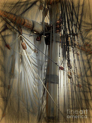 Photograph - Oceanus Sailcloth And Rigging by Scott Cameron
