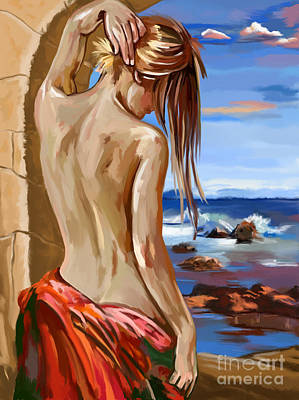 Painting - Oceanview by Tim Gilliland