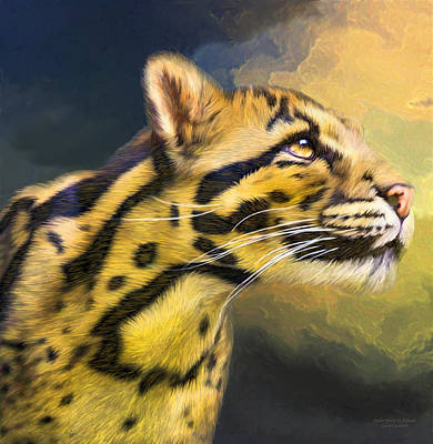 Mixed Media - Ocelot - Spirit Of Solitude  by Carol Cavalaris