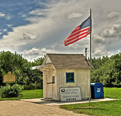 Digital Art - Ochopee Florida Post Office  by Ginger Wakem