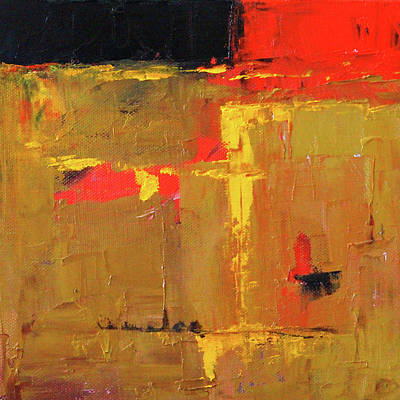 Painting - Ochre Abstract by Nancy Merkle