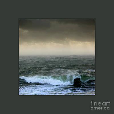 Ochre Sky's And Angry Seas 3 Original by Paul Davenport