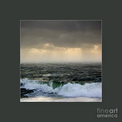 Ochre Sky's And Angry Seas 2 Original by Paul Davenport