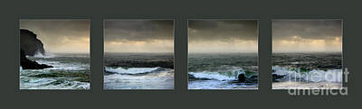 Photograph - Ochre Sky's And Angry Seas Series by Paul Davenport