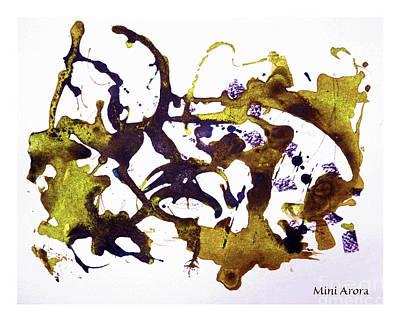 Ochres In Ink Art Print