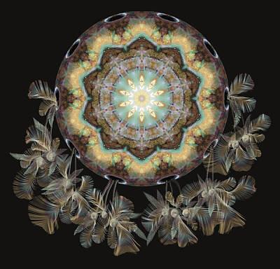 Ceramic Beads Digital Art - Ochros by Deborah Holland
