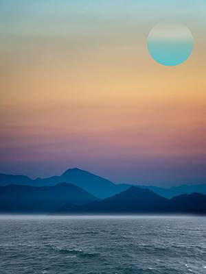 Optimistic Painting - Ocianic Sunset by Celestial Images