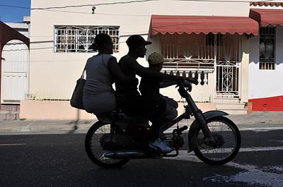 Photograph - Ocoa Bikers, San Jose De Ocoa, Dr, 2008 by John Jacquemain