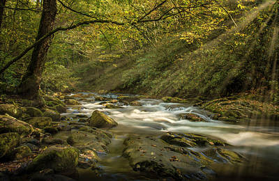 Art Print featuring the photograph Oconaluftee River by David Morefield
