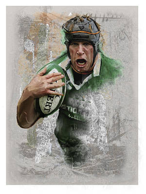 Rugby Mixed Media - Oconell 3 by James Robinson