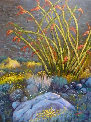 Painting - Ocotillo At Dusk by Bonita Waitl