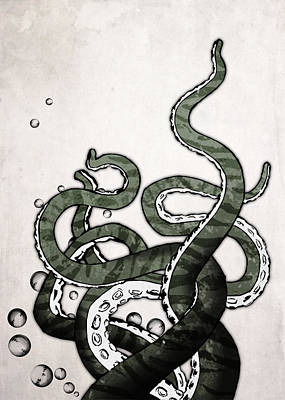 Funny Drawing - Octopus Tentacles by Nicklas Gustafsson