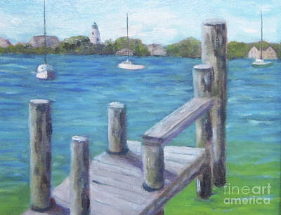 Painting - Ocracoke Harbor by Anne Marie Brown