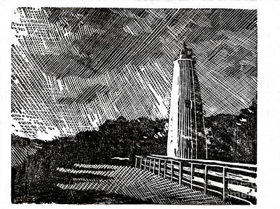 Ocracoke Island Lighthouse II Original by Ryan Fox