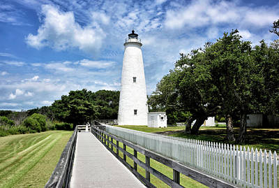 Ocracoke Lighthouse Photograph - Ocracoke Light by Brendan Reals