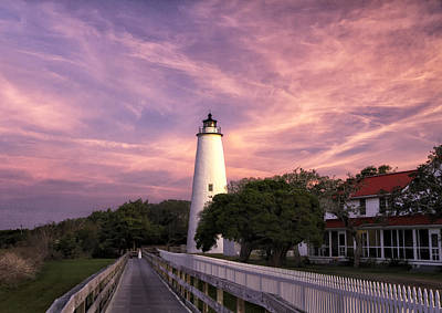 Ocracoke Lighthouse 01 Art Print