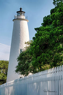 Dan Beauvais Royalty-Free and Rights-Managed Images - Ocracoke Lighthouse 7812 by Dan Beauvais