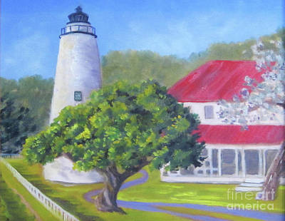 Painting - Ocracoke Lighthouse by Anne Marie Brown