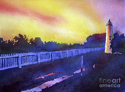 Ocracoke Lighthouse Painting - Ocracoke Lighthouse- North Carolina by Ryan Fox