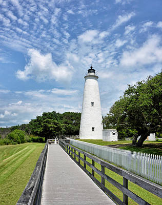 Ocracoke Lighthouse Photograph - Ocracoke Lighthouse - Outer Banks by Brendan Reals