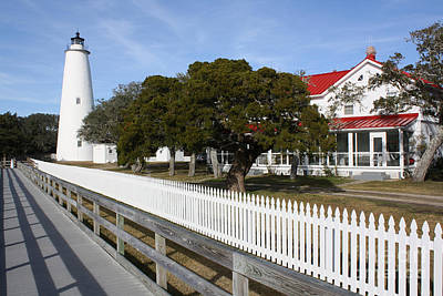 Ocracoke Lighthouse Art Print