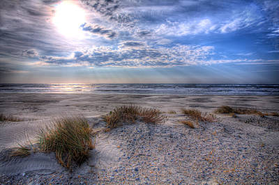 Note Card Photograph - Ocracoke Winter Dunes II by Dan Carmichael
