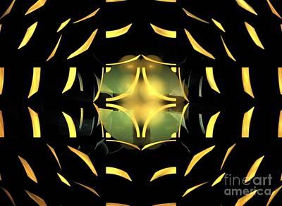 Digital Art - Octagon Sphere by Kim Sy Ok