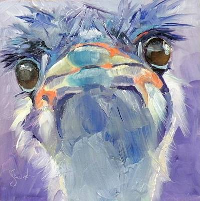 Ostrich Mixed Media - Octavia by Saundra Lane Galloway
