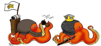 Python Mixed Media - Octi-python by Jayde Hilliard
