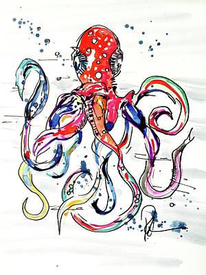 Octo Baby Art Print