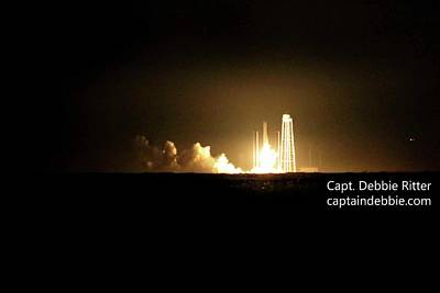 Photograph - October 17 2016 Antares' Return Flight At Wallops A by Captain Debbie Ritter