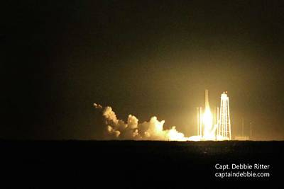 Photograph - October 17 2016 Antares' Return Flight At Wallops B by Captain Debbie Ritter