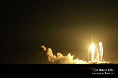 Photograph - October 17 2016 Antares' Return Flight At Wallops C by Captain Debbie Ritter