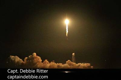 Photograph - October 17 2016 Antares' Return Flight At Wallops D by Captain Debbie Ritter