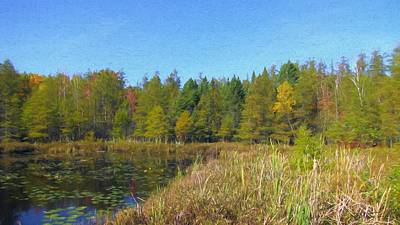 Mixed Media - October 2017 Sifton Bog Fall Panorama by Maciek Froncisz