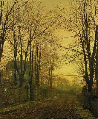 Grimshaw Painting - October After Glow by MotionAge Designs