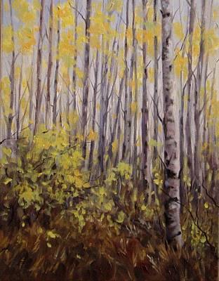 October Aspen Art Print by Debra Mickelson
