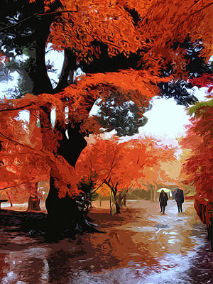 Painting - October At The Park by Andrea Mazzocchetti