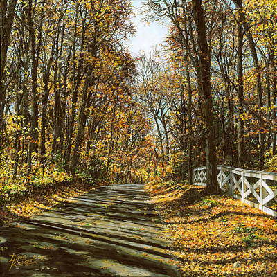 Painting - October Backroad by Doug Kreuger