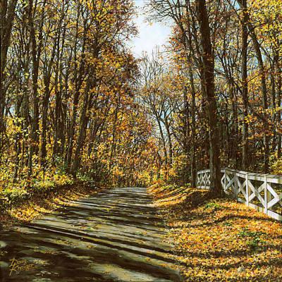 October Backroad Original by Doug Kreuger