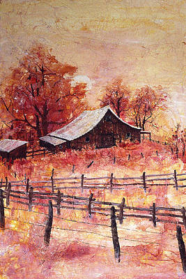 Painting - October Barn by Connie Williams
