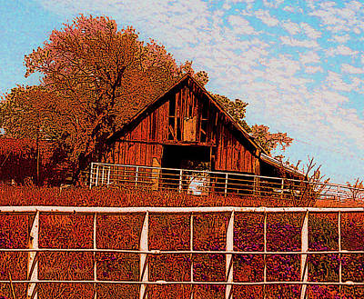 Photograph - October Barn by Robert J Sadler