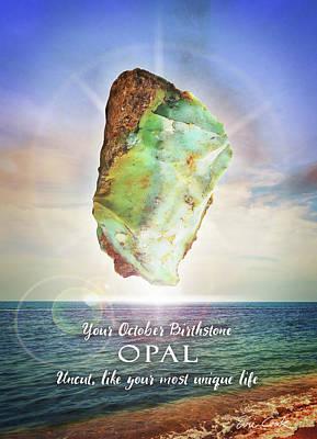 Digital Art - October Birthstone Opal by Evie Cook